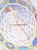 楽しい古本★ 星占術 大きな参考書 資料 中世 カラー図版多数