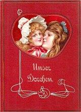 アンティーク洋書☆ お人形のような表紙の可愛らしい古書 1910年頃 物語
