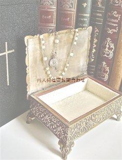 画像1: アンティーク 古い真鍮の宝石箱 小物入れ