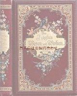 アンティーク洋書★ 豪華装丁 宝石箱の様な古書  1899年 美品 フェミニニティー