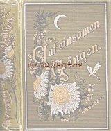 アンティーク洋書★ 三日月と花々の模様の古書  孤独な道 宗教 詩集 神学関係