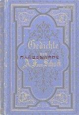 アンティーク洋書☆ 豪華な青い詩集  Adolf Friedrich von Schack