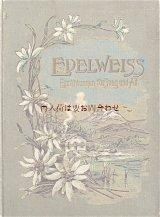 アンティーク洋書★ エーデルワイス柄の古書 1900年頃 物語選集