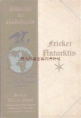 アンティーク洋書☆ 地誌 南極大陸 折り込み地図付 地球柄の古書