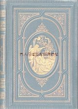 アンティーク洋書★ 窓に月の風景 立体的な模様の美しい古書 エマニュエル・ガイベル 詩集