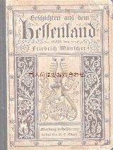 アンティーク洋書★ Geschichten aus dem Hessenland 古い物語の本