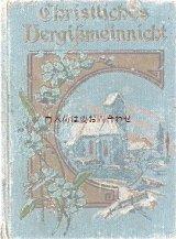 アンティーク洋書★  シャビーな古い本 忘れな草の小さな古書 カラーイラスト有り クリスチャン関連