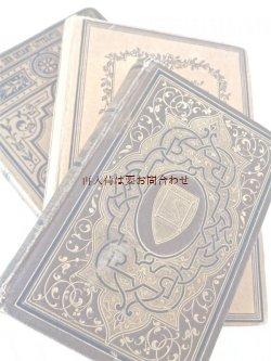 画像1: アンティーク洋書セット ディスプレイ  インテリア  撮影にも☆ 詩集や物語 茶系の古書 3冊セット