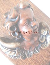 アンティーク  古道具 古い天使の壁飾り ワックス 蝋  エンジェル
