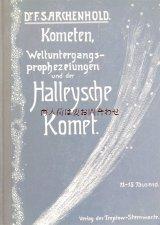 アンティーク洋書☆ 流れ星 ハレー彗星の本 宇宙 終末予言 1901年 天文 Kometen , Halleysche komet