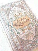 アンティーク洋書 ☆ 忘れな草の小さな本 クリスチャン 詩やことわざ メモリアルブック
