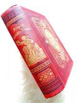 アンティーク洋書★  立体的な模様の美しい古書 ウーラント 詩集&戯曲集 1879年