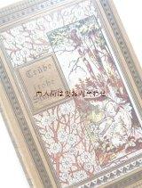 アンティーク洋書★ 少女と白いお花柄 表紙イラストの素敵な古書 物語集