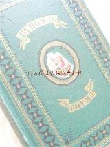 アンティーク洋書★ 天使の絵柄が素敵な古書 エンボス 英国 バイロン詩集