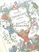 洋古書☆希少☆ カラーイラスト多数の韻文集 動物イラスト 教訓 1850年代の書籍のリプリント