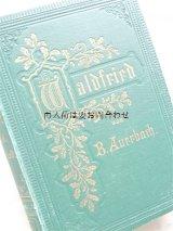アンティーク洋書☆深い立体の美しい古書 どんぐりの木の柄 Waldfried 1875年