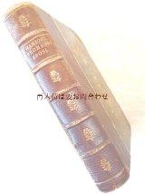アンティーク洋書★  背表紙革装 アレッサンドロ・マンゾーニ 歴史小説 イタリアの古書 花の型押し模様