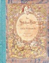 アンティーク洋書★ 古いイラスト(銅版画)絵柄の素敵な古書 シャビー 1800年代