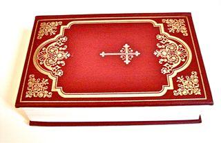 素敵な古本 ★ 表裏背表紙の模様が素敵な聖書  旧約•新約聖書