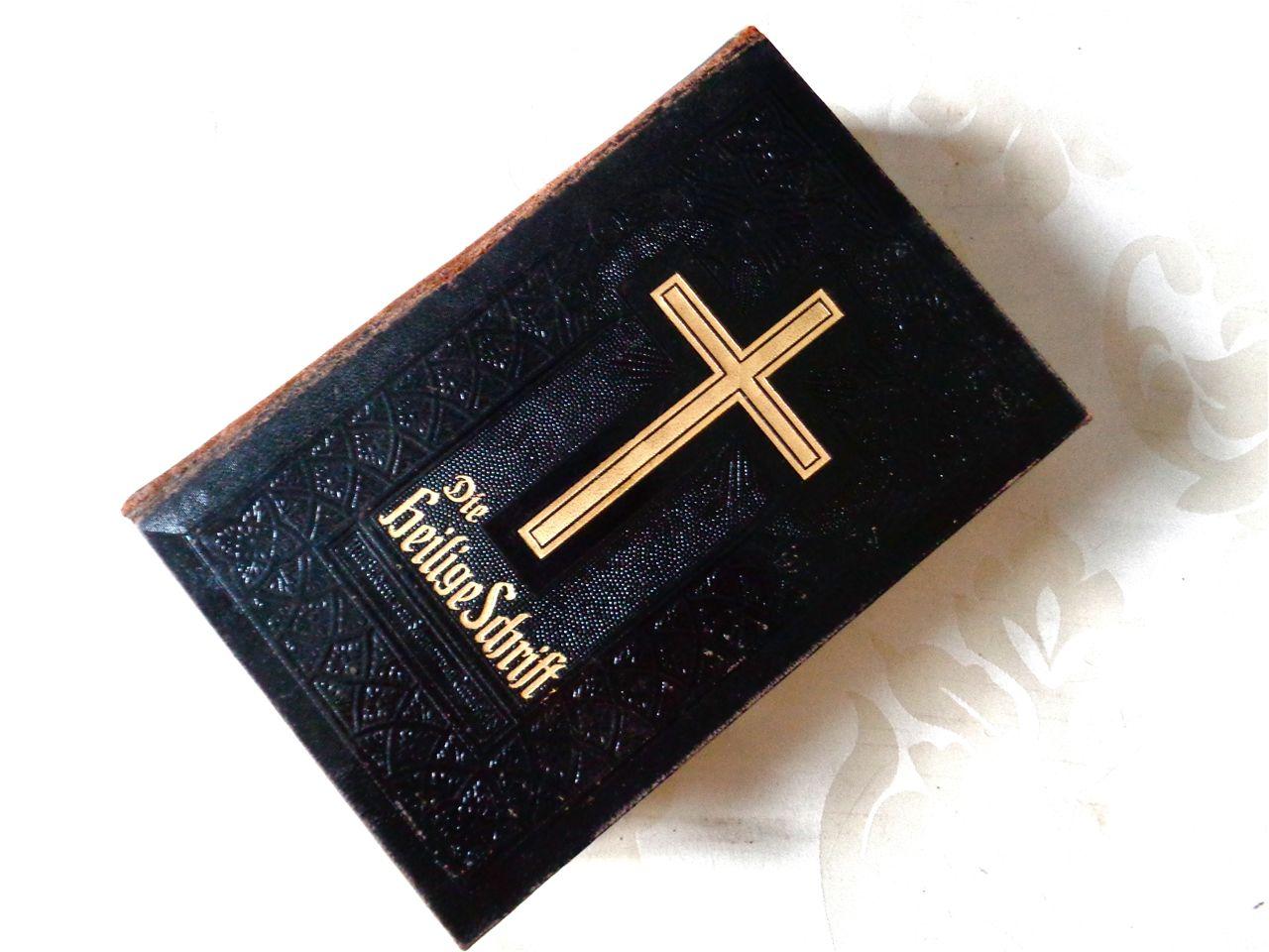 送料無料☆ アンティーク大型書籍★希少☆美イラスト多数 聖書   木版画 星柄