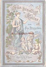 アンティーク洋書   水色詩集    美しい表紙 1888年