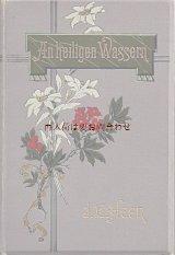 アンティーク洋書★ お花柄の美しい古書 小説  1900年