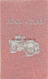 楽しい古本★ イギリス 古い地図の本  車柄のレザー表紙