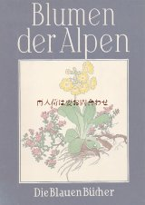 楽しい古本洋書★ Josef Weisz 木版画 アルプスの植物 高山植物