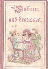 アンティーク洋書☆ 素敵なイラスト シャビーで素敵な童話•詩集 1900年頃