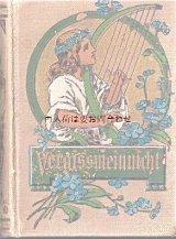 アンティーク洋書★  忘れな草の小さな古書 イラストページ有り 三方金