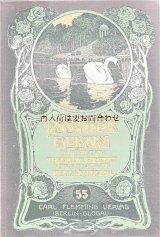 アンティーク洋書★ 白鳥柄の古書 詩•物語•小説 エンターテイメント イラスト  1900年頃