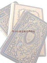 アンティーク洋書セット ディスプレイ  インテリア  撮影にも☆ 詩集や物語 茶系の古書 3冊セット