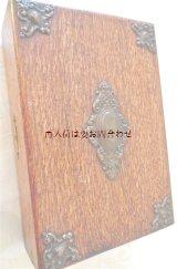 アンティーク  古道具  ブローチのような装飾付き 素敵な木箱