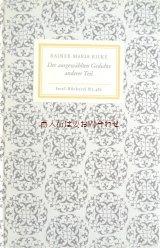 インゼル文庫☆ かわいい表紙の古書 詩集 ライナー・マリア・リルケ 詩選集