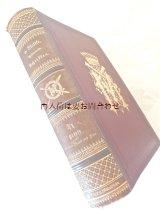 アンティーク洋書☆ 王冠柄の古書 大型 エンボス 背表紙革装 モルトケ  重厚な書簡集
