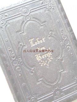 画像1: アンティーク洋書★革装 深い立体の模様が美しいスイスの讃美歌集 楽譜ページ多数