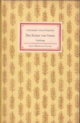 インゼル文庫  表紙の素敵古書 Der Ketzer von Soana☆  ゲアハルト•ハウプトマン