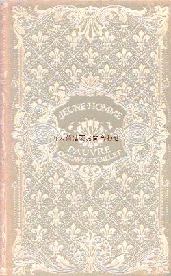 画像1: アンティーク洋書★表紙 背表紙 百合の紋章 フランスの古書 小説  クラシック