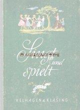 アンティーク洋書★ 子供 イラスト 楽譜多数  歌と遊びの本  シャビーな古書