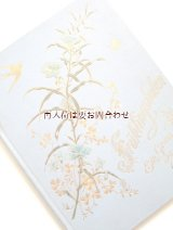 アンティーク洋書★ツバメや蝶、春の花柄の素敵な古書 詩集 アンソロジー イラスト付
