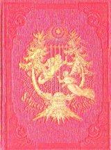 アンティーク洋書★1858年  エンボス 天使と星柄 クリスマス風 三方金 ロシアの詩集  雪のアンソロジー
