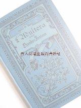 アンティーク洋書☆  ブーケと蝶の柄 素敵な模様の古書  テオドール・フォンターネ 小説 L'Adultera 不貞の女