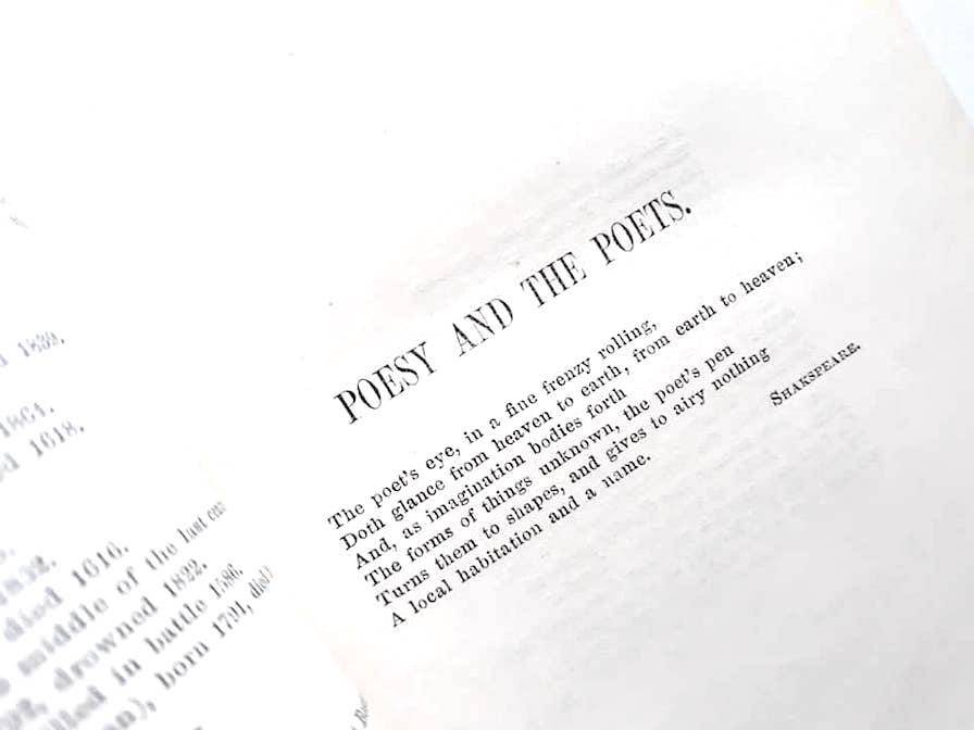 アンティーク洋書☆イギリス 詩選集 金彩  ミルトン バイロン他 バラ柄表紙  表裏 背表紙 美装丁本